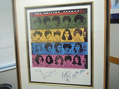 Rolling Stones Autographs 12 of 90 SOLD OUT Hand Signed Some Girls Print Beatles