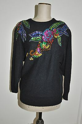 Vintage 80's SIROCCO Sequinned Jumper