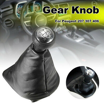 For PEUGEOT 206 207 307 406 5 Speed Gear Shift Stick Gaitor Boot & Knob Cover