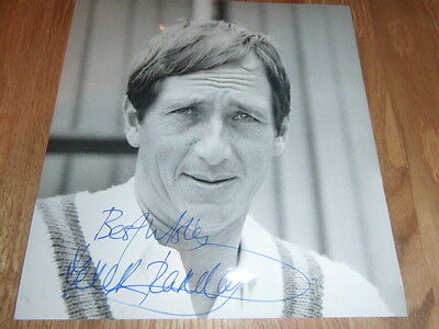 Hand Signed English Test Cricketer Derek Randall Photo