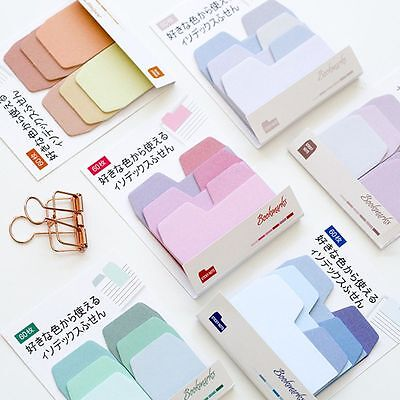 1 Set Gradient Color Sticky Memo Pad Daily Sticker Note Bookmark Scrapbooking