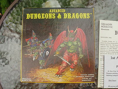 Grenadier AD&D Monsters Box Set 5002 1980 Complete Rare OOP