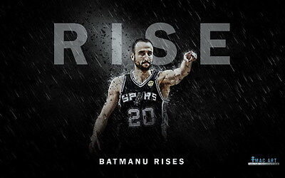 "016 Manu Ginobili - San Antonio Spurs GDP Super Star NBA 22""x14"" Poster"