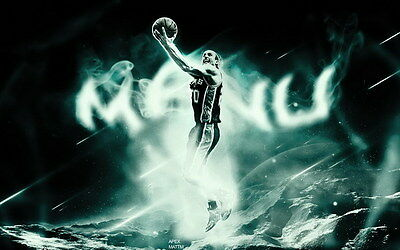"017 Manu Ginobili - San Antonio Spurs GDP Super Star NBA 38""x24"" Poster"