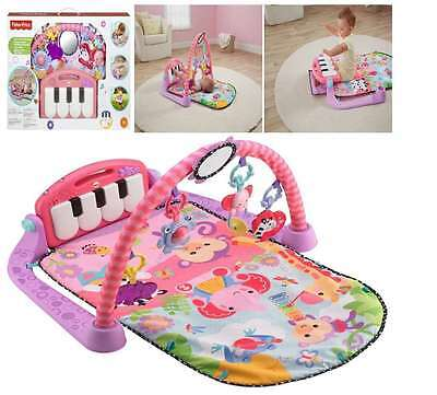 Fisher Price Play And Kick Piano Gym Pink for Baby Infant Activity Toy Music