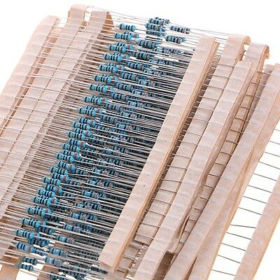 2600 Pcs 1/4W 0.25W 1% Metal Film 130 Values Resistors Assorted Pack Kit Hot