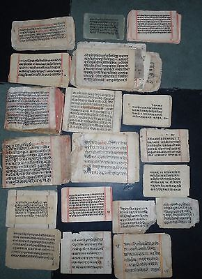 India Old Sanskrit Manuscript 530 Leaves-1060 Pages, 35+ Different Subjects.