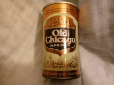 OLD CHICAGO DARK STRAIGHT STEEL PULL TAB BEER CAN PETER HAND BREWING CO Displays
