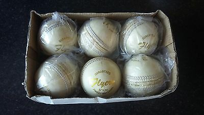 CRICKET WHITE LEATHER   5.1/2 balls ×6.(high quality.