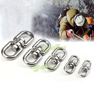 8 Shape Stainless Steel Swivel Buckle Outdoor Climbing Hiking Carabiner Survival