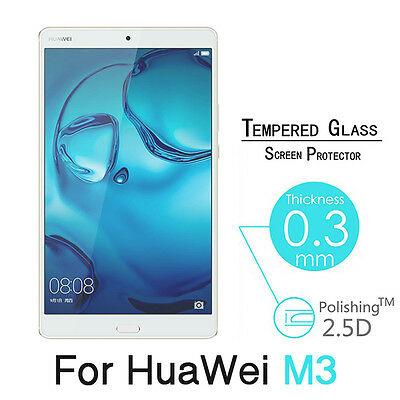 """Premium 9H Tempered Glass Screen Protector Film For Huawei MediaPad M3 8.4"""" New"""