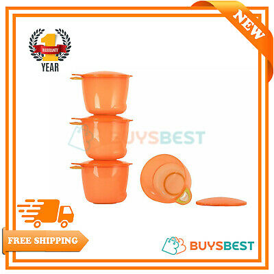 Vital Baby Prep And Go Food Weaning Pots - Orange Pack Of 4 443019