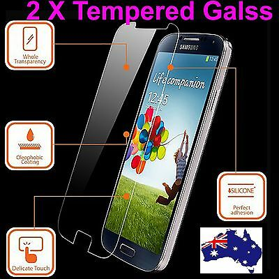 2x Tough Scratch Resist Tempered Glass Screen Protector for Samsung Galaxy S4