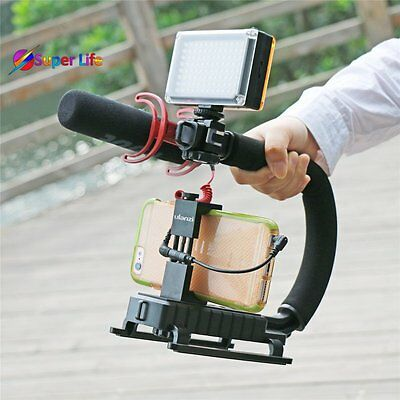 3 Shoe Mount Video Action Stabilizing Handle Grip Rig DSLR Camera iPhone Phone
