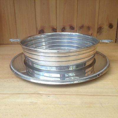 Vintage Silver Plated Barker Brothers Serving Dish & Tray