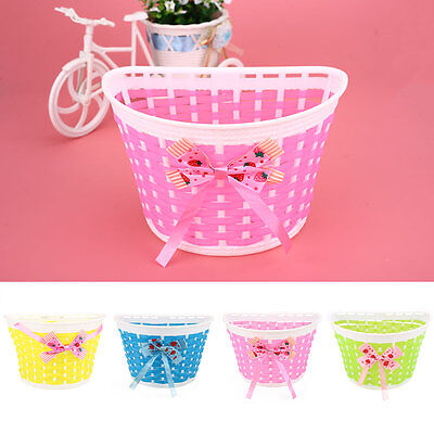 Outdoor Bicycle Bags Panniers Bike Bowknot Front Basket For Children Girl