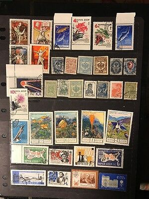 stamps Russia - Used - Lot 384