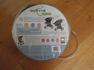 Outlook Solar Shade - sun shade canopy for pushchair **Free Postage**