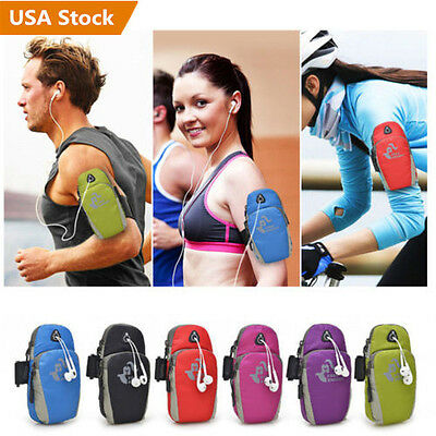 Sports Gym Running Jogging ArmBand Arm Strap Case For Cell Phone Wrist Pouch Bag