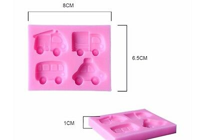 Trucks cake decorating mould / mold for chocolate icing fondant silicon