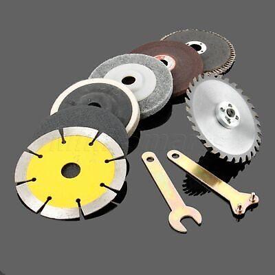 10x Cutting Metal Wood Stone Grinding Polishing Saw Blade Disc Grinder Kit MI8I
