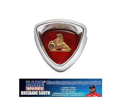 Holden Fc Grille Badge And Surround With Gold Lion Insert Rare Spares