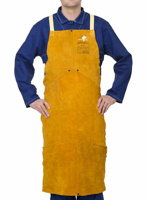 WELDAS Split Cowleather Welding Bib Apron, HIGH QUALITY