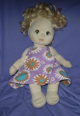 "'mattel"" My Child Doll Blonde With Green Eyes"