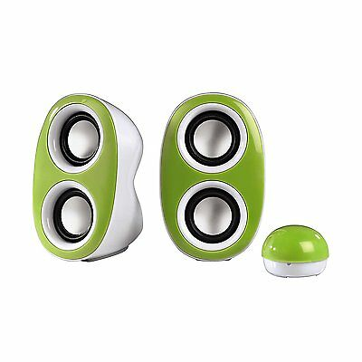 wholesale joblot of 6 x Hama Dispersion PC Speaker - Green-rrp 180
