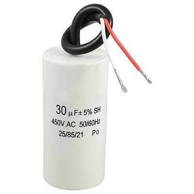 2-Wired Cord 30uF 450VAC 50/60Hz CBB60 Motor Start Run Capacitor SH O6U7 L0I6
