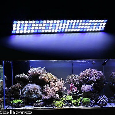 "60W 25"" SMD 112LED Aquarium Lighting Full Spectrum Marine Reef Coral White Blue"