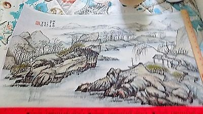 "Chinese Hanging Scroll ink On paper Painting ""Chen XueXin"""
