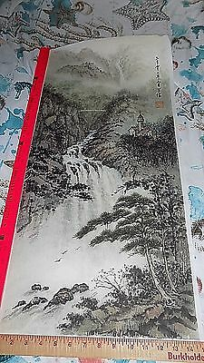 "Chinese Hanging Scroll ink On paper Painting ""Chen XueXin"" @ # 4"