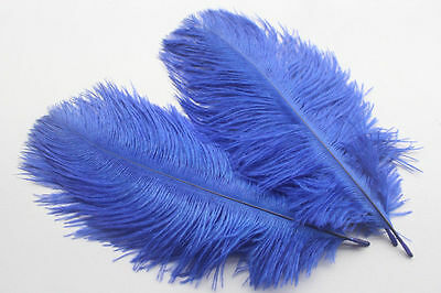 free shipping 10pcs 6-8inch blue high Quality Natural OSTRICH FEATHERS