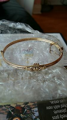 9ct rolled gold claddah bangle