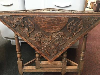 Unusual End/side Table With Drop Leaf