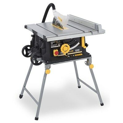 POWERPLUS 254mm Heavy Duty Extending Side 640x640mm Table Saw 2000w 240v