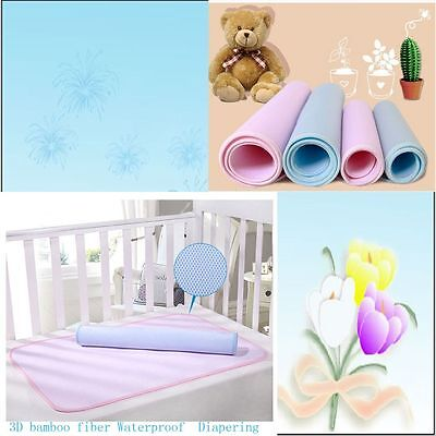 Soft Waterproof Mat Towel 3 D Bamboo Fiber Absorbent Cloth Baby Urine Pad