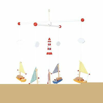 Legler Sailboat & Lighthouse Kids/Babies/Toddlers Nursery/Bedroom Mobile (NEW)