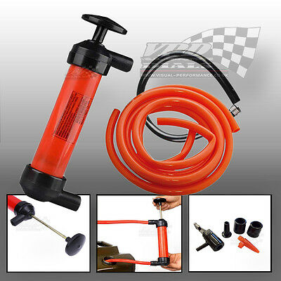 Transfer Syphon Air Extractor Pump Oil Water Fuel Fluids Removal Cars Vans Bikes