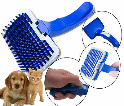 1 x SELF CLEANING DOG PUPPY CAT KITTEN HAIR BRUSH COMB GROOM CLEAN HAIR PET CARE