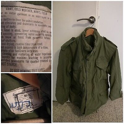 Israel Army Insignia M65 Alpha Industries Cold Weather Field Parka Jacket Medium