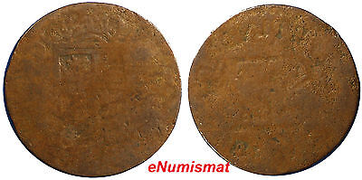 PHILIPPINES (Spain COLONY) 1830 1 Quarto Coin BROCKAGE SCARCE KM#7