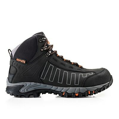 Scruffs CHEVIOT Safety Waterproof Hiker Work Boots Black (Sizes 7-12) Mens Shoes