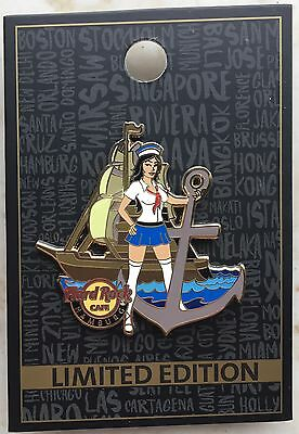 Hard Rock Cafe Harbor Girl Pin Hamburg Pins Limited Edition