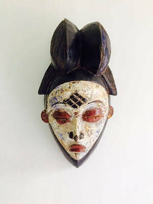 Antique Punu Mukudj Okuyi Mask Of Gabon Africa  African Mask. 18th-19th Century
