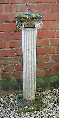 Antique Sundial  Doric Column Old Stone Garden Ornament Reclaimed Architectural