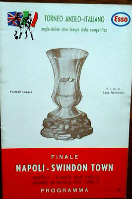 Napoli V Swindon 26/5/1970 Anglo Italian Cup Final