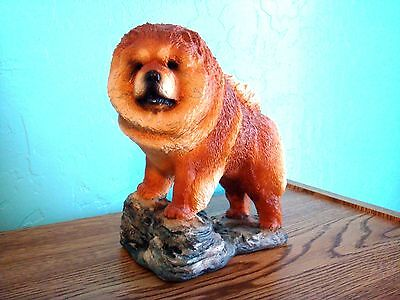 Chow Chow Dog Figurine By Nancy Miller Pinke - Made In Usa
