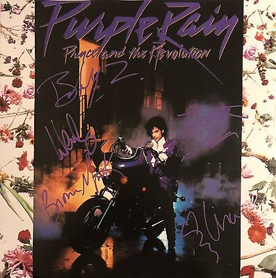 The Revolution Signed Autographed 12x12 Flat Purple Rain By All 5 Rare Parade